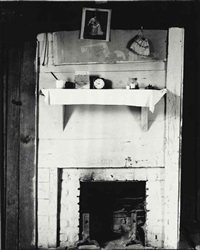 fireplace, burroughs house, hale county, alabama by walker evans