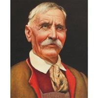 portrait of an old tyrolean by franz leitgeb