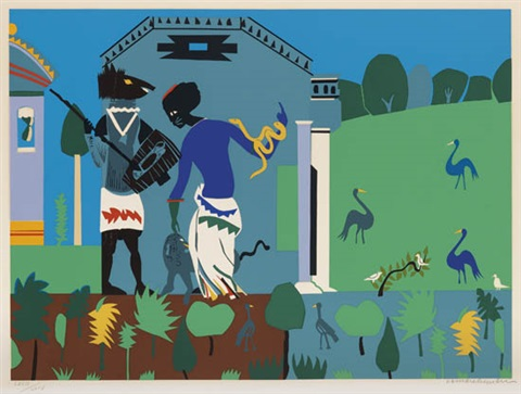 circe into swine from odysseus suite by romare bearden
