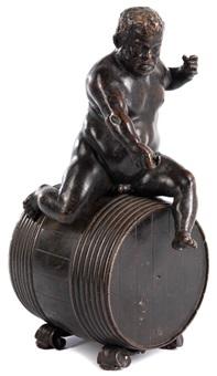bronzefigur eines dickleibigen, zwergenhaften mannes auf einem weinfass by anonymous-italian (17)