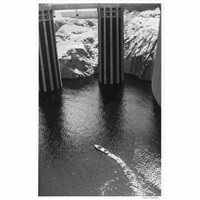 boulder dam, first filling, nevada by julius shulman