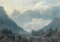 view of the grand chartreuse by john robert cozens