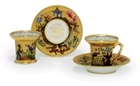 cups and saucers (set of 4) by batenin factory