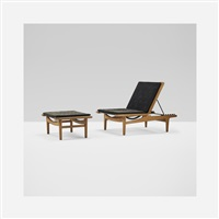 chaise lounge and ottoman by hans j. wegner