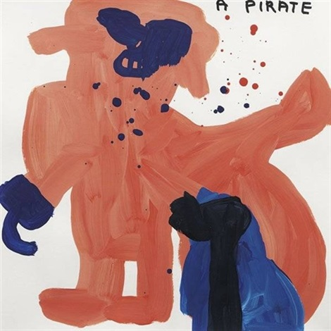 untitled a pirate by david shrigley