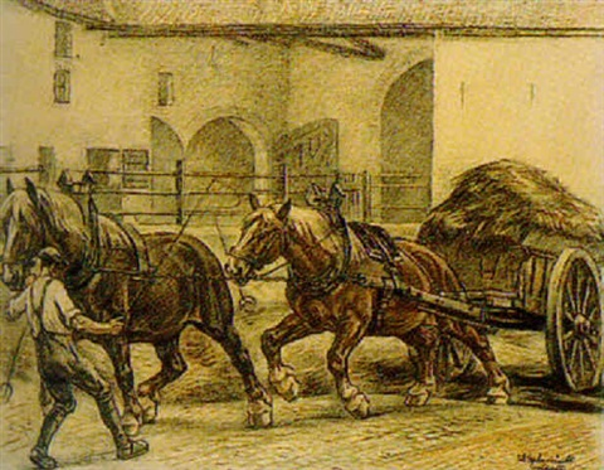 pferdegespann by wilhelm uberbruck