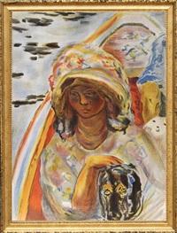 jeune fille dans une barque from verve vol. ii magazine no. 5/6 by pierre bonnard