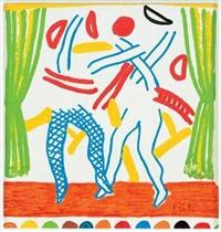 two dancers (v. ii) by david hockney