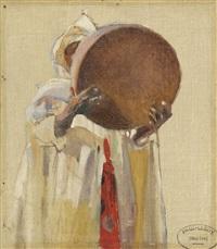 marocain au tambourin by paul alexandre alfred leroy