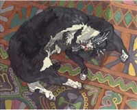 gilbert the cat asleep by francis hewlett