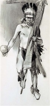 tesuque comanche dancer by ned jacob
