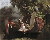the boating party by jozef willemszoon hoevenaar