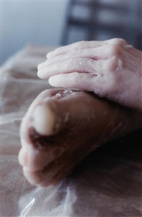 untitled (hand/foot) by kiki smith