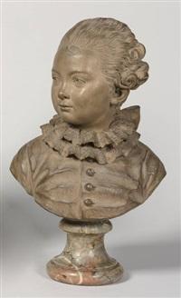 buste d'un jeune gentilhomme by augustin pajou