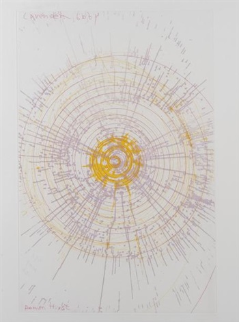 lavender baby (from in a spin, the action of the world upon things vol. i) by damien hirst