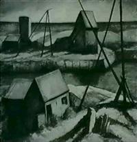 sea and derricks by yarnall abbott