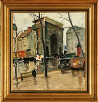 a street scenery fom paris by knud ove hilkier