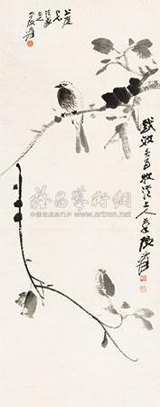 幽禽图 by zhang daqian