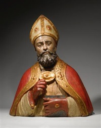 bust of a bishop saint by agnolo di polo
