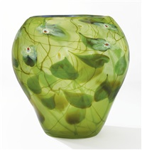 monumental millefiore paperweight vase by louis comfort tiffany