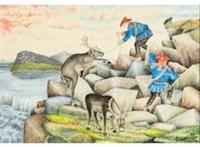 reindeer by andreas alariesto