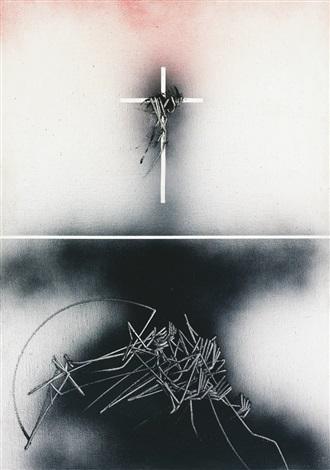 crocefissione by emilio scanavino