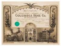 this is to certify that hiram sweet is an honorary member of the columbia hose co. of philadelphia by james queen
