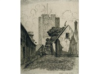 street in visby, sweeden (+ st. drotten, visby, sweden; 2 works) by caroline helena armington