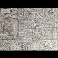pianta prospettica della città by franz hogenberg