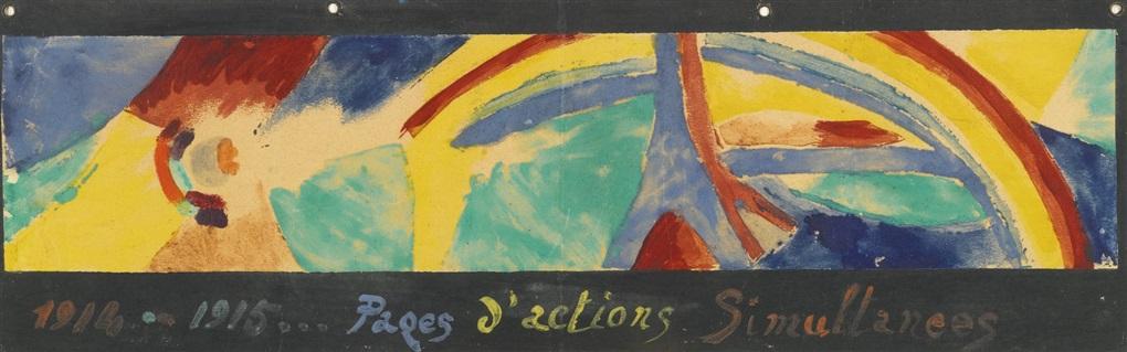 tour eiffel et arc en ciel pages dactions simultanées by robert delaunay