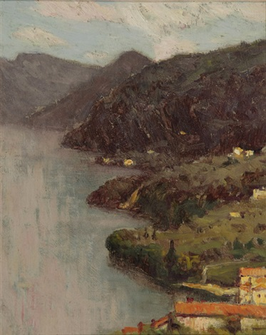 view of lecco from villa serbelloni lake como by charles warren eaton