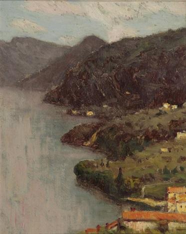 view of lecco from villa serbelloni lake como by charles warren eaton
