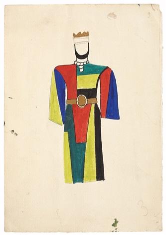 projet de costumes pour david triomphant costume du roi rectoverso by fernand léger