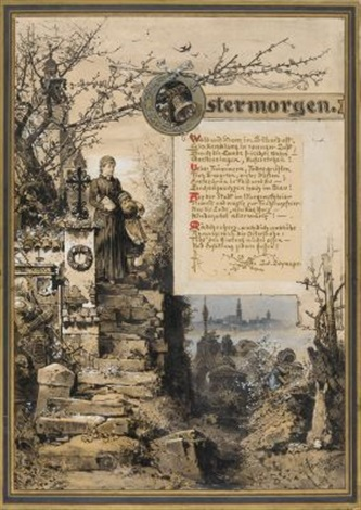 diverse zeichnungen 4 works by hermann vogel