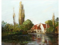 iffley mill, on the thames by archibald kay