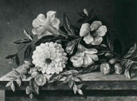 still life with flowers by hansine kern-eckersberg