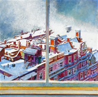 view from the studio, january by morton kaish