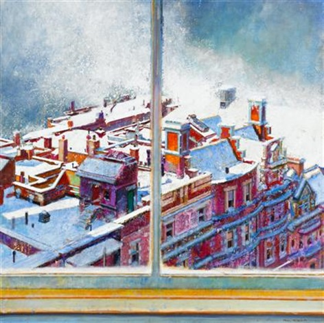 view from the studio january by morton kaish