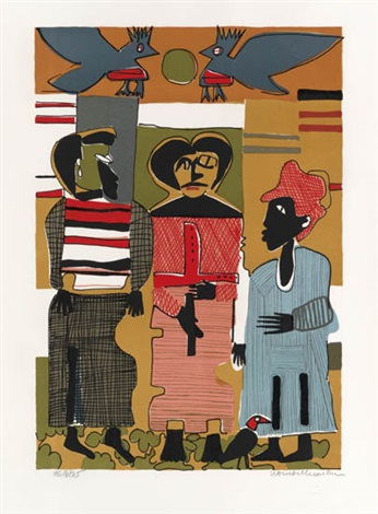 firebirds by romare bearden