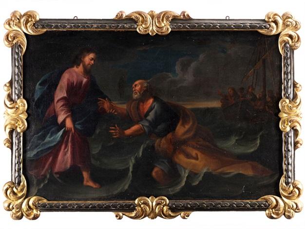 jesus rettet den heiligen petrus aus den fluten des stürmischen sees genezareth by anonymous 18
