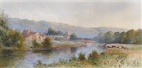 llanrwst on the conway, wales by william charles piguenit
