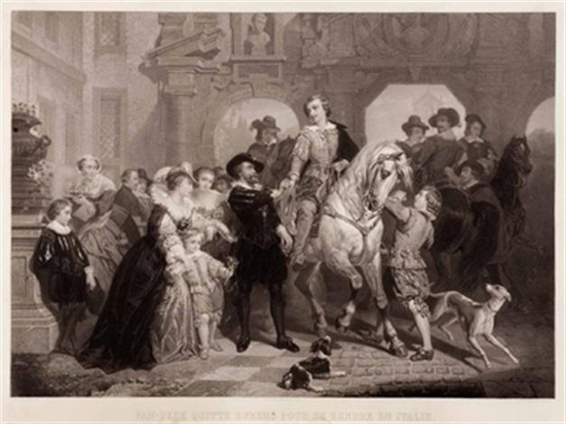 van dyck verlässt rubens um sich nach italien zu begeben after nicaise de keyser by jean baptiste alfred cornilliet