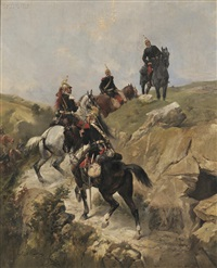 cavalrymen ascending a hill by james alexander walker