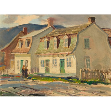 old houses baie st paul p que by george franklin arbuckle
