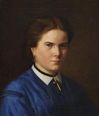 porträt der klara schrader (geboren 1844) by carl christian vogel von vogelstein