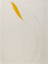 yellow iris by donald sultan