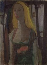 porträt einer blonden dame by alexander camaro