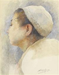 portrait de jeune arabe by paul alexandre alfred leroy