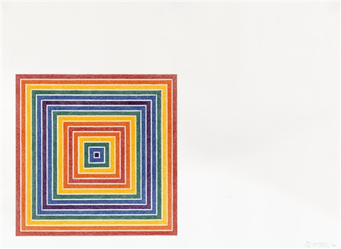 cipango from multicolored squares i series by frank stella