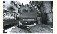 triple assassinat dans le quartier vucciria, palerme, sicile by franco zecchin